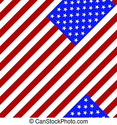 Seamless pattern. Flag of the USA.