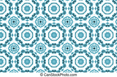 Abstract white dots pattern background and blue textile texture