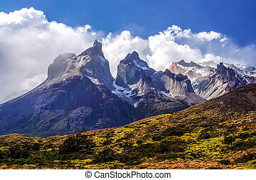 Cuernos Del Paine - Stunning view of the Cuernos del Paine...