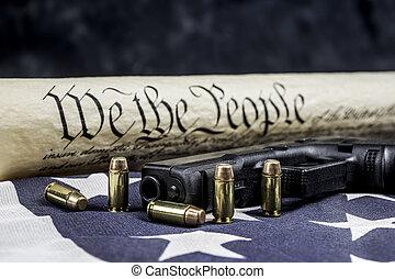 國家, 團結, 憲法, 槍, 權力