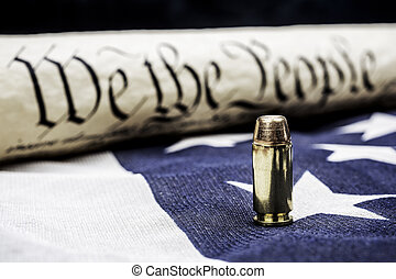 Constitution and bullet - The United States Constitution...