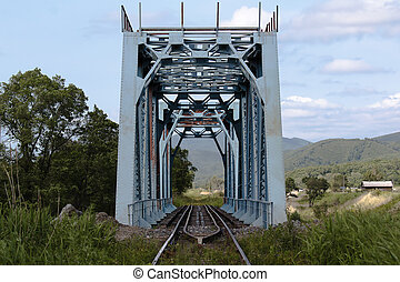 narrow gauge railway bridge - Farm old narrow-gauge bridge...