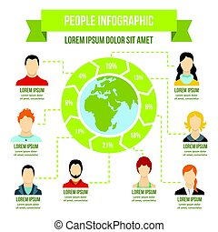 People infographic concept, flat style
