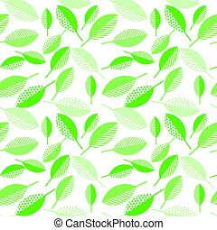 spring green leaves abstract vector illustration on wight...