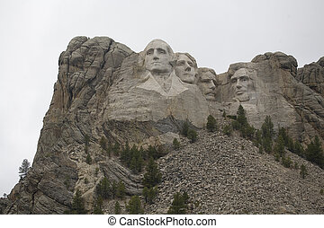 mountainous sculpture - Mount Rushmore with all of the...