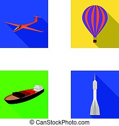 A drone, a glider, a balloon, a transportation barge, a...