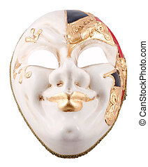 Venetian mask on a white background
