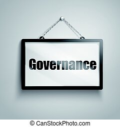 governance text sign - governance text on hanging sign,...