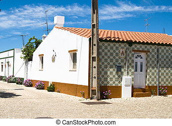 The typical house in Algarve, Portugal