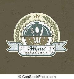 Design menu label on grange