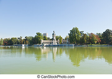 The Retiro Park in Madrid City, Spain