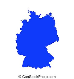 map of Germany vector illustration