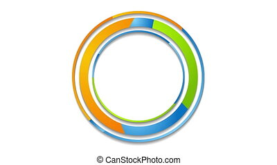 Colorful abstract corporate circles logo video animation -...