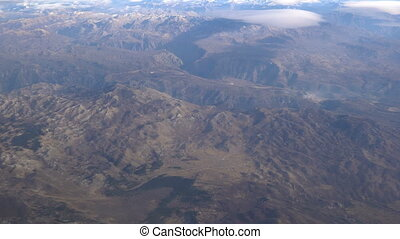 view from the plane on the Moraca River canyon
