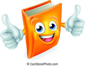 Cartoon Book Character - A cute book cartoon character...
