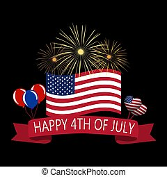 Independence Day of America. Tape a happy day of...