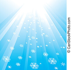 Snowflake Decoration. Christmas and New Year's background