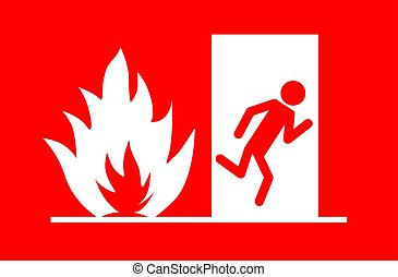 Fire emergency exit vector eps 10