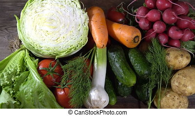 Fresh vegetables, view from the top