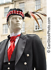 Manequin in Traditional Scottish Dress - A manequin dressed...
