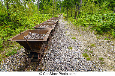 Abandoned mine - Old ore carts at an abandoned mine on Upper...