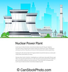 Poster Nuclear Power Plant - Nuclear Power Plant on the...