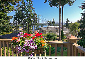 Gig Harbor bridge - View from an apartment on Gig Harbor...