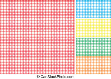 Picnic tablecloth - Easy tilable red, green, blue, yellow...