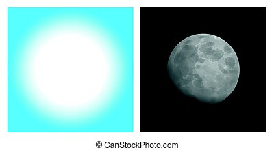 Day And Night Sun Moon Comparison