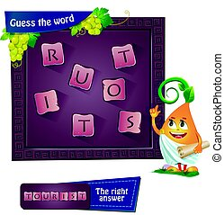 guess the word 2 tourist - Visual Game for children. Task:...