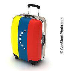 Travel to Venezuela (isolated with clipping path)