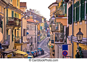 Town of Volosko street view, Opatija riviera of Croatia