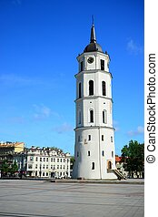 Cathedral pubic domain square area in the Vilnius - VILNIUS,...