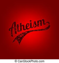 atheism theme - against religious ignorance campaign -...