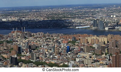 Aerial view of Midtown New York area