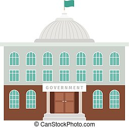 Government building with dome and flag - Government building...