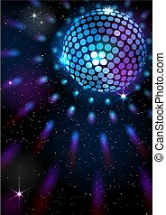 Disco Ball. Vector background. - Masks are used, so you can...