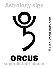 Astrology: planet ORCUS - Astrology Alphabet: ORCUS,...