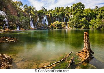 Kravice waterfall in Bosnia and Herzegovina - nature travel...