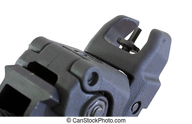 back up sights - Iron sights on an assault rifle that are...