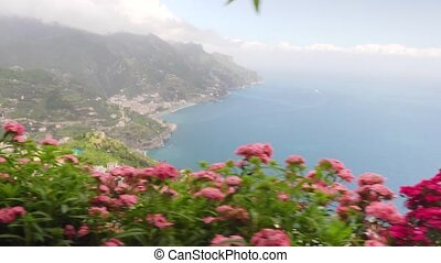 beautiful view in Ravello southern Italy - beautiful view in...