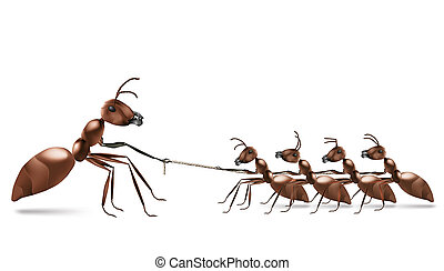 ant rope pulling unbalanced business or sport rivalry