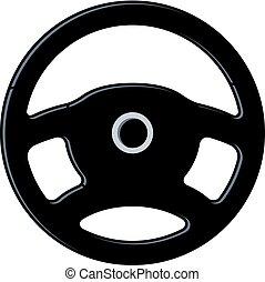 vector car steering wheel icon