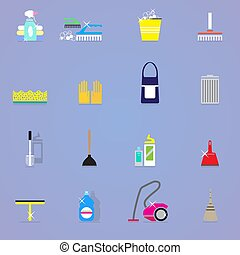Colorful Cleaning Elements Collection