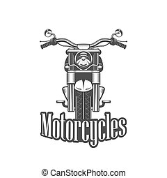 Chopper motorcycle front side isolated