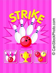 Colorful Bowling Strike Template