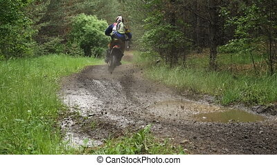 racing enduro motorcycle racer