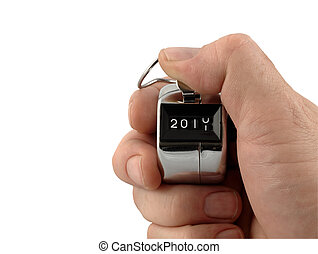 Countdown to the New Year - A Mechanical number clicker...