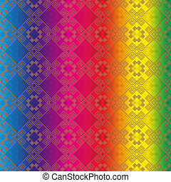 Image Background multicolour - Indian seamless pattern...