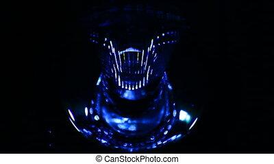 Alien face, glowing eyes - Alien face, neon glowing eyes